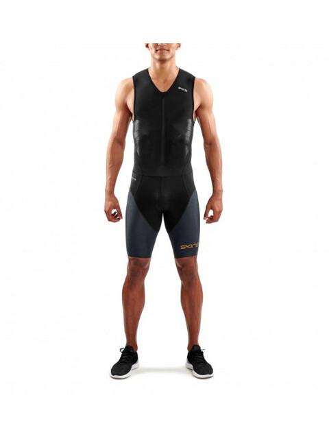 Skins DNAmic Triathlon Herr with Front Zip grå/svart
